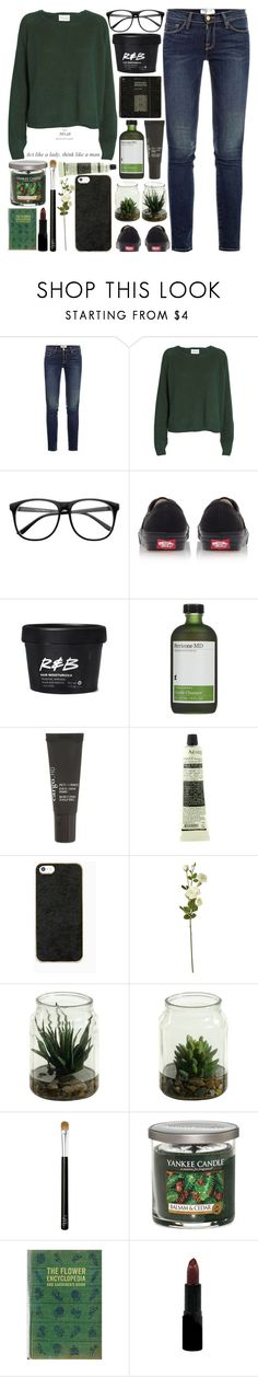 """""""The No. 28 Rule Of A Lady: Act Like A Lady, Think Like A Man"""" by raelee-xoxo ❤ liked on Polyvore featuring Frame, Ganni, Retrò, Vans, Perricone MD, CARGO, Aesop, OKA, NARS Cosmetics and Yankee Candle"""