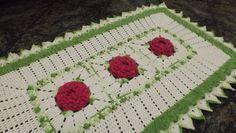 Como executar o tapete em crochê Jardim de Rosas parte 2
