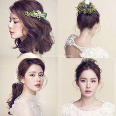 fresh korean bride look