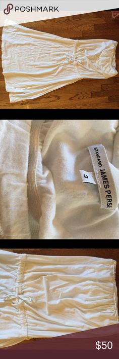 James Perse Strapless Dress I am selling a never worn James Perse strapless dress in white with front tie detail. James Perse Dresses