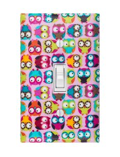 Owls Light Switch Plate Cover - so fun!
