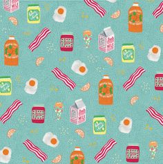 Breakfast Pattern by Holly Maguire, via Behance