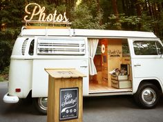 """The bus may be vintage but the photo booth is as high-quality and modern as it gets..."" 