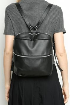 Brandy ♥ Melville | Faux Leather Bucket Backpack - Bags - Accessories
