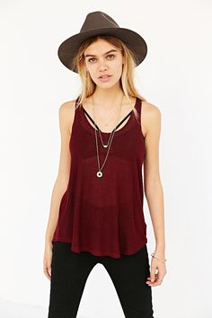 Project Social T Deep Scoop Tank Top - Urban Outfitters
