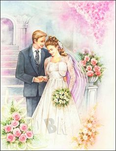 Image Library Designs Original illustrations occasions Christmas greetings cards Wedding Prints, Wedding Art, Wedding Images, Wedding Couples, Wedding Pictures, Image Fruit, Wedding Shower Cards, Happy Birthday Card Design, Image Nature