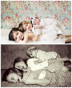 Although these are both beautiful, I prefer the bottom image. More personality/fun! Sibling Photography, Life Photography, Newborn Pictures, Baby Photos, Funny Family Portraits, Picture Ideas, Photo Ideas, Newborn Sibling, Family Humor