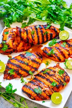 Grilled Sriracha Lime Chicken – EASY, ready in 10 minutes, and the chicken is SPICY, tender, and juicy!! Put this HEALTHY chicken recipe on your summer menu when you want to kick things up a notch!!