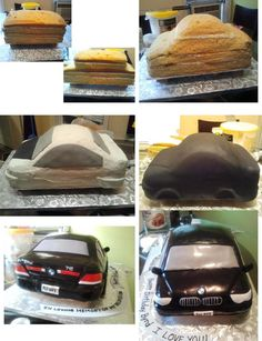 745 Bmw Cake This is how i did my 745 BMW Cake. Not all steps are included in the picture, but you can get the idea. To create the shine. I...