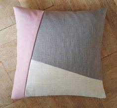 Kissen Sofa geometrisch Block #3 rose/grau/beige