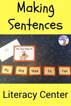 This literacy center for Kindergarten or Grade 1 contains words which students arrange to make simple sentences. There is also an answer card with a picture they can use to assist them. Great for primary students!