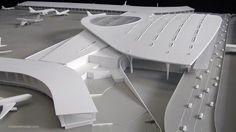 Commercial Architecture, Architecture Models, Delhi Airport, Airport Design, Building Facade, Model Airplanes, Transportation, Aviation, Landscape