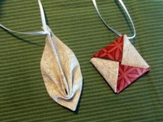 Learn to Make Fabric Origami Christmas Ornaments