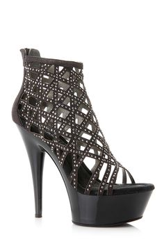 Check out the very fierce diva caged heels! It features a padded insole, open toe cut, center back zipper for closure, and caged detail with rhinestones. Take these diva heels out to a special occasion!  Check it out at www.cicihot.com #classic #cute #womensfashion #welovefashion #worldoffashion #stripes #fun #cute #highwaist #stylish #trendy #style #design #model #behot #cicihot