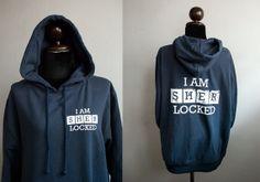 Collections sherlock products sherlock-i-am-sherlocked-front-and-back-side-sweatshirt-hoodie-longsleeve Sherlock, Tomboy Fashion, Tomboy Style, 221b Baker Street, Best Shows Ever, Hoodies, Sweatshirts, Things I Want, My Love