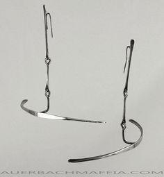 Art Smith Modernist Kinetic Sterling Earrings 1950