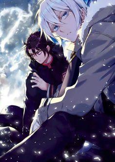 Shinya & Guren - Owari no Seraph / Light Novel Guren, Fanarts Anime, Anime Characters, Manga Art, Manga Anime, Vampires, Anime Plus, Mikaela Hyakuya, Seraph Of The End, Owari No Seraph