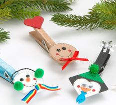 with the kids - wooden pegs. Also a great idea for use on gifts!