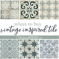 Where to buy patterned tile online - Christinas Adventures Bathroom Decor Pictures, Buy Tile, Unique Tile, Bathroom Tile Designs, Tiles Online, Tile Patterns, Wall Tiles, The Good Place, Vintage Inspired
