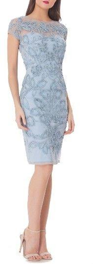 Women's Js Collections Soutache Sheath Dress
