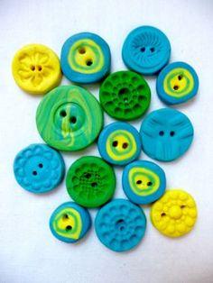 Como hacer botones con arcilla polimerica
