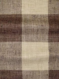 Check Please Java - The look and feel of heavy hand loomed linen and raw silk from P. Buffalo Plaid fabric - Perfect for any upholstery, bedding or window treatment project. x H wide
