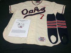 c1e1b35aa Minor League Baseball Throwbacks · Scott Brosius Game Worn Signed Oakland  Oaks Jersey Pants MVP MLB Yankees A s Mlb Yankees