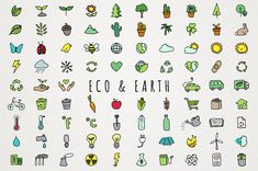 This is a set of 86 vector & PNG format eco & Earth icons clipart. Perfect for printable planner stickers, making calendars, decorating notebooks, scrapbooking, Flat Design Icons, Icon Design, Design Trends, Camping Clipart, Recycle Symbol, Bullet Journal Banner, Travel Icon, Printable Planner Stickers, Printables