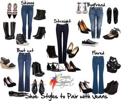Choosing the Right Shoe to Pair with Your Jeans Style Escoge la forma correcta de usar zapatos según tu jeans.