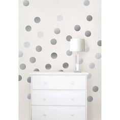 Silver Confetti Dot Wall Decals