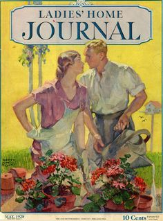 Ladies Home Journal Cover May 1928 Illustration by Harry Morse Meyers Vintage Advertisements, Vintage Ads, Vintage Images, Vintage Prints, Vintage Posters, Vintage Romance, Vintage Ephemera, Vintage Pictures, Magazine Illustration