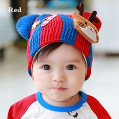 dacf41cb225 Cute animal ears knitted hat for toddlers decor cat beanies plush lined  style