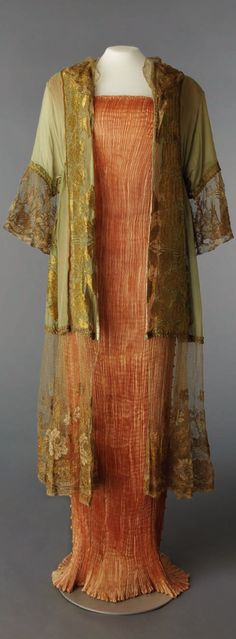 Delphos dress, Mariano Fortuny, silk and glass, ca. 1919, Italy