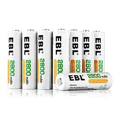 Ready2Charge 1100mAh Ni-MH Battery 16-Counts EBL Rechargeable AAA Batteries