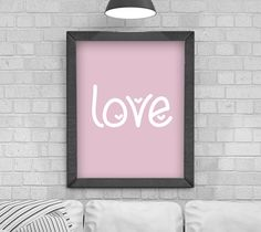 Digital Download 'love' Typography Poster, Printable Art, Instant Download, Wall Prints, Digital Art, typography quote, Scandinavian print by KirstyPDesigns on Etsy Typography Quotes, Typography Poster, Typography Design, Frame It, Love S, Wall Prints, Printable Wall Art, Digital Art, Printables
