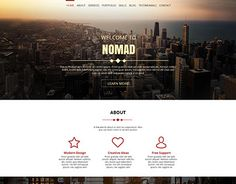 "Check out new work on my @Behance portfolio: ""NOMAD - OnePage Creative Portfolio"" http://be.net/gallery/42653003/NOMAD-OnePage-Creative-Portfolio"