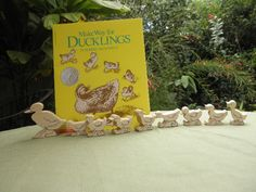 Make Way for Ducklings Book and Wood Toy  Set Story Book Series.