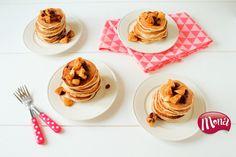 Appel/kaneel yoghurt-pancakes met appelcompote