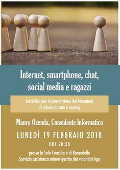 Roncadelle (BS) 19/02/2018 : Seminario genitori ragazzi scuola media Roncadelle. Internet, smartphone, chat, social media e ragazzi