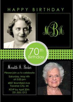 2 Photo Birthday Invitation - Adult Birthday Party Invitation