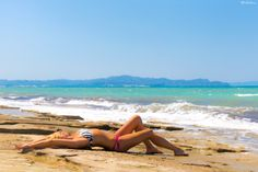 Just under the summer sun at Almyros beach, my model Nafsika Mouzakiti pose with summer mood. Summer Sun, Beach Mat, Beautiful People, Outdoor Blanket, Poses, Mood, Figure Poses