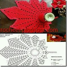 Pink lace doily, Decorative crochet tablecloth with heart pattern, Perfect gift for mom and wife with pink crochet, Valentines day decor Crochet Leaf Patterns, Crochet Symbols, Crochet Leaves, Crochet Motifs, Crochet Potholders, Christmas Crochet Patterns, Crochet Tablecloth, Crochet Diagram, Doily Patterns