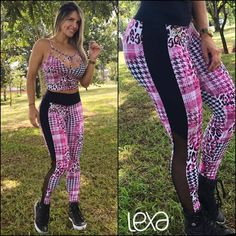 Cropped Fran Oncinha Xadrez na Lexafitwear.