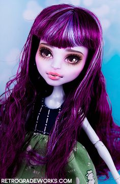 Custom Monster High Repaints - Racquel by Retrograde Works     #doll #monsterhigh #custom #repaint
