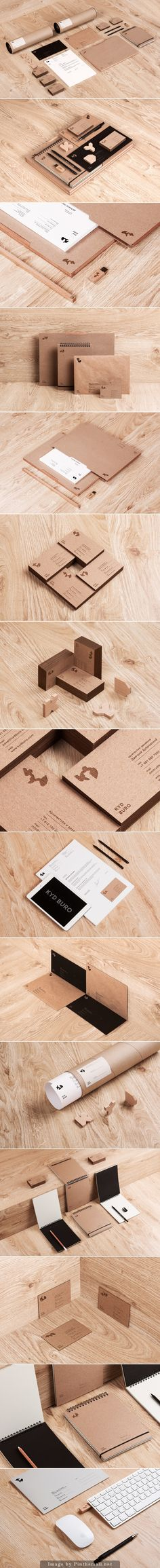 logo corporate branding visual graphic identity kraft paper design business card label print usb nature notepad minimal letterpress texture wood organic letter