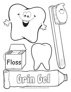 dental health coloring sheets - Google Search | Preschool Crafts ...