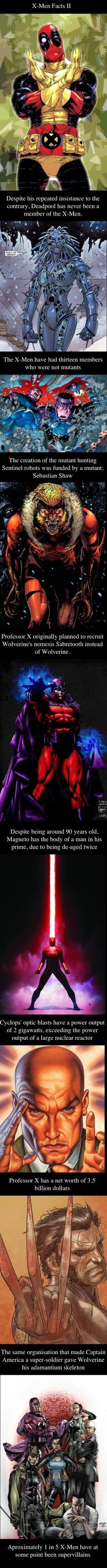 X-Men Facts Compilation Part II // funny pictures - funny photos - funny images - funny pics - funny quotes - #lol #humor #funnypictures