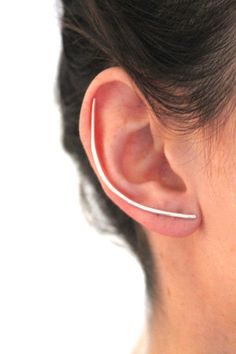 Silver XL Bar Earring. Super unique, love this design. Click here, http://www.arturbane.com/collections/earrings/products/silver-xl-bar-one #earrings #fashion #jewelry $75.00