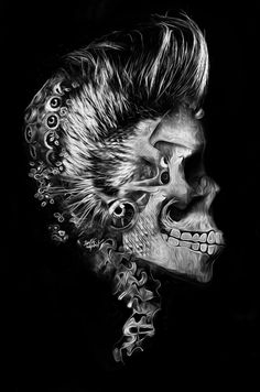 FACE OFF SKULL-A-DAY by obery nicolas, via Behance