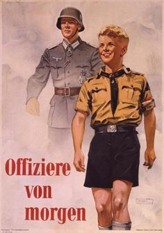 "Nazi poster/art, ""Offizier von morgen"" (Officers of tomorrow)"